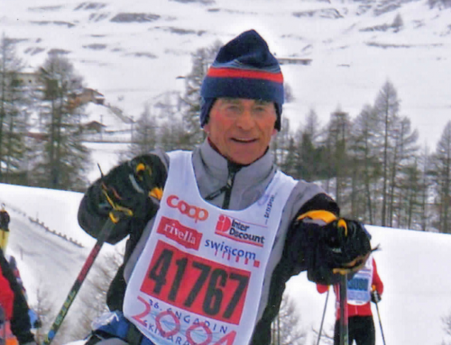 Paul Spies beim 50. Engadiner Skimarathon