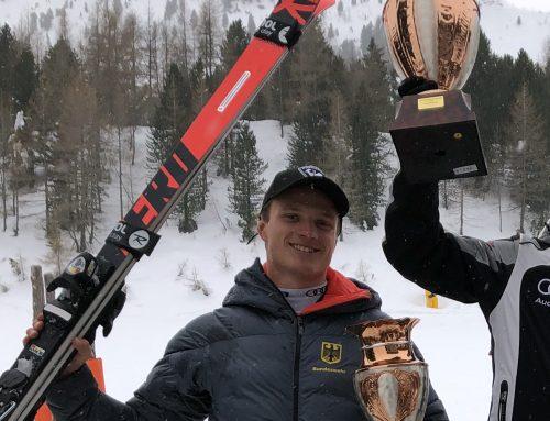 Roman Frost auf Platz 2 beim FIS Riesenslalom in Speikboden, Arntal, Italien